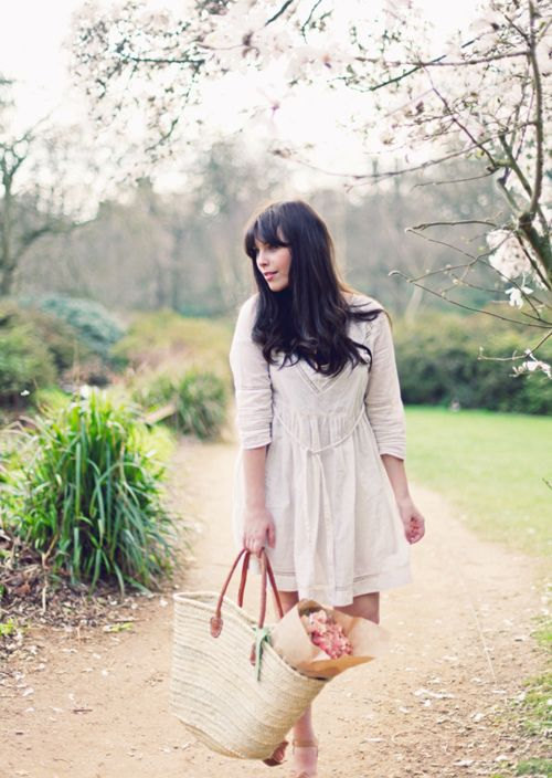 Image Via: A Feminine Tomboy  #Spring: Spring Dresses, Antiques Lace, Feminine Tomboys, Beautiful Dresses, Bangs, Spring Outfits, Flower, Lace Dresses, Hands Bags
