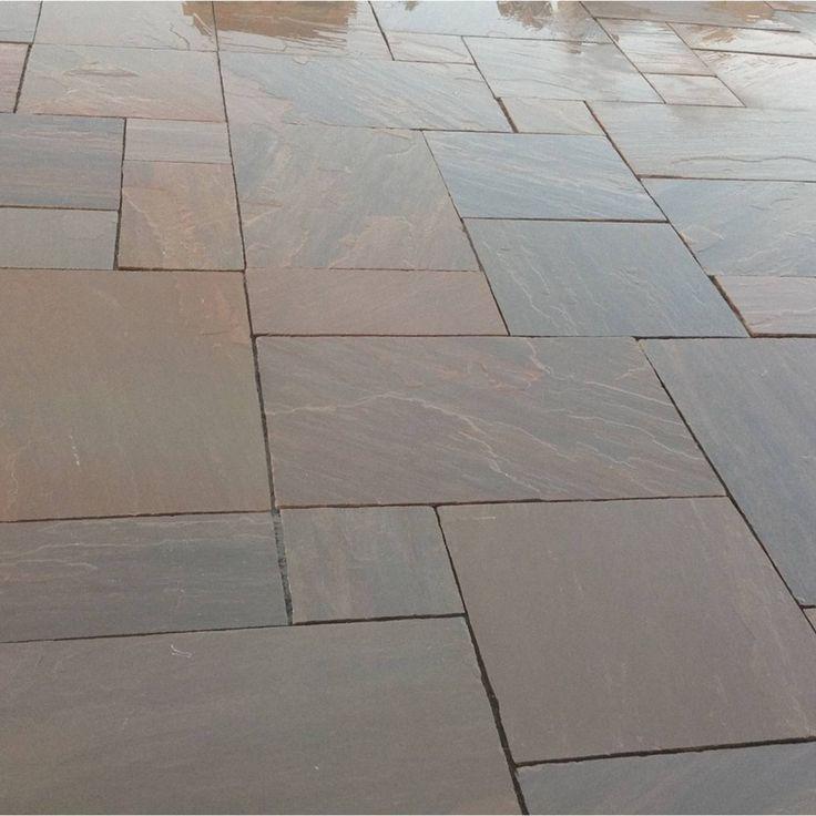 Natural Sandstone Paving Burnt Umber Blend Patio Pack - 19.52 m2 Per Pack - Natural Stone - Paving