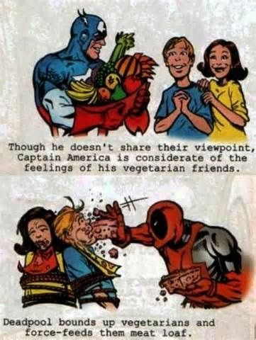 Captain America vs. Deadpool when it comes to acceptance