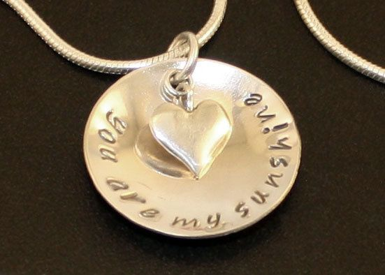 Solid Silver Pendant - Who puts the sunshine in your life?