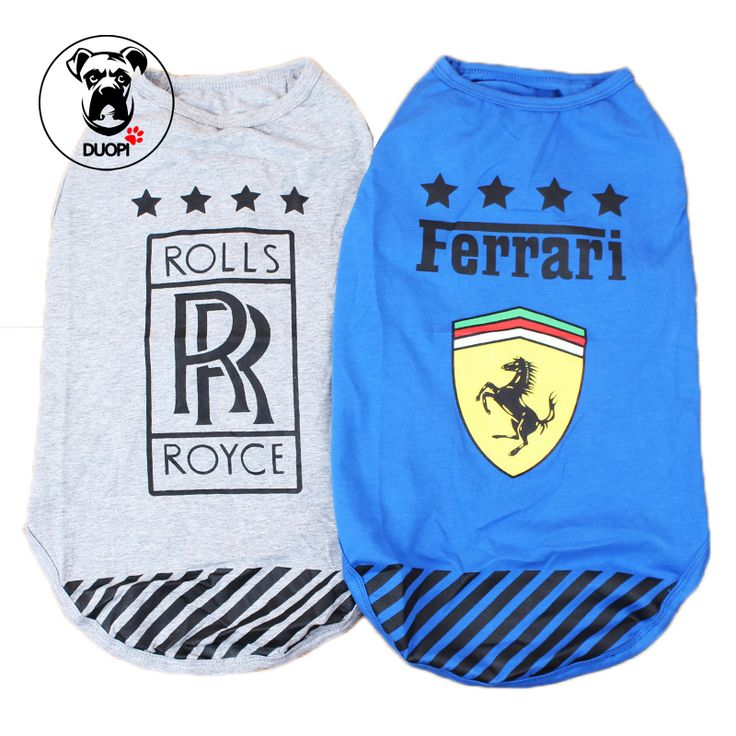 Duopi Large Dog Vest Gray Rolls Royce Blue Ferrari Terrao luxury Auto Logos Large Dog Clothes for Dogs Pet Shirt Feet Clothing //Price: $15.43 & FREE Shipping //     #hashtag1