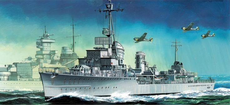 Destructor Z-38, escoltando al Scharnhorst durante la Operación Cerberus.