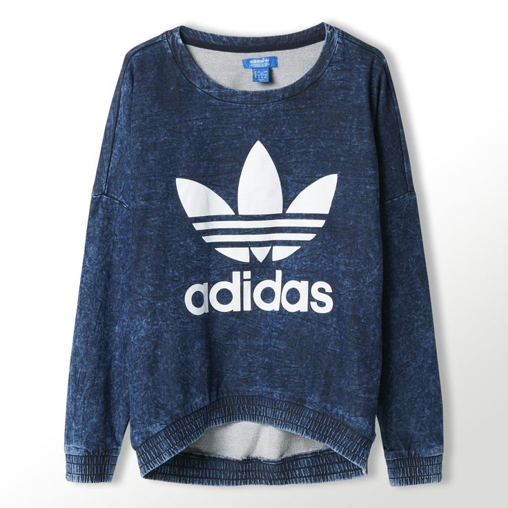 Sweat-shirt ras du cou en tissu éponge Acid-Wash adidas | adidas France