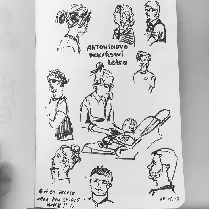 On like 5-th day of drawing 10-people-a-day I've decided to sign the places where the sketches were made:) #10peopleaday