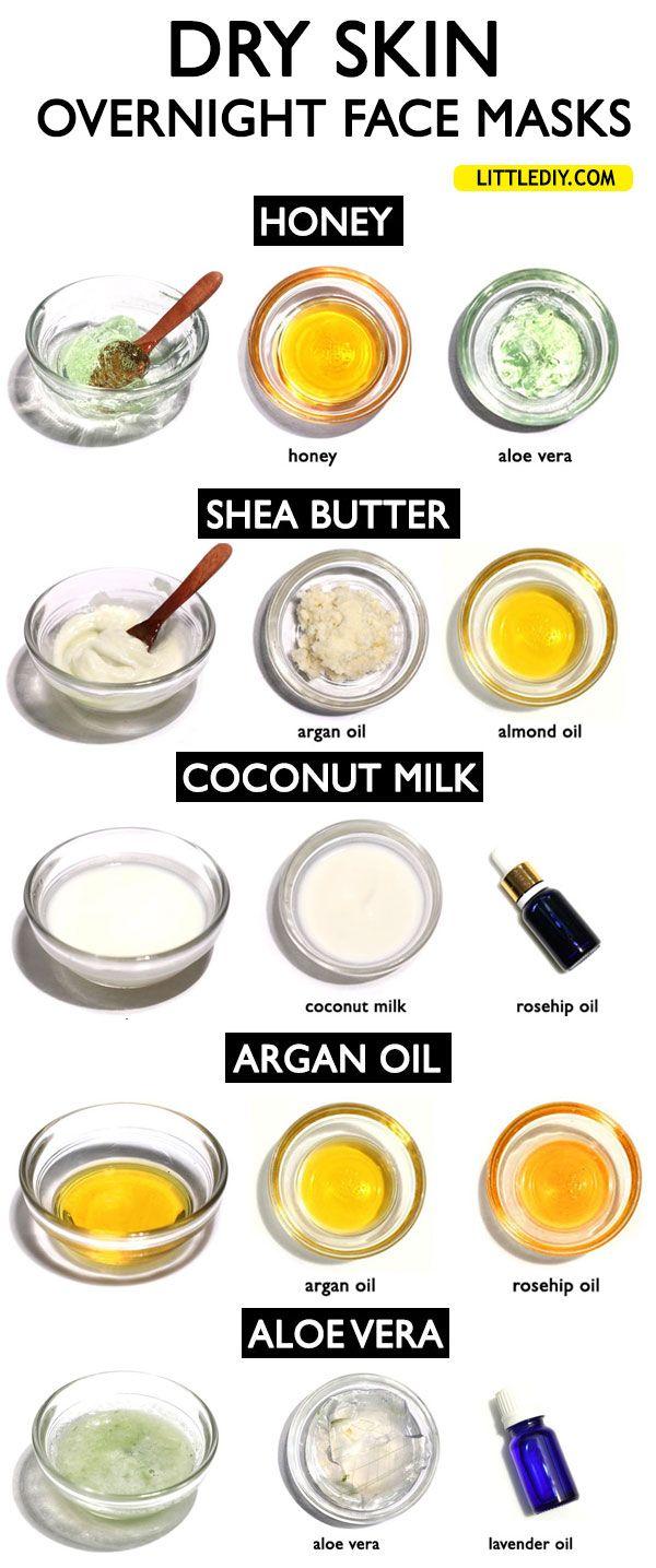 6 Overnight Face Masks For Dry Skin Little Diy Overnight Face Mask Mask For Dry Skin Dry Skin Diy