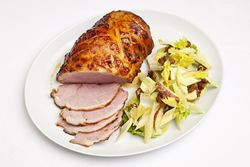 Gammon in Cider with Waldorf Salad
