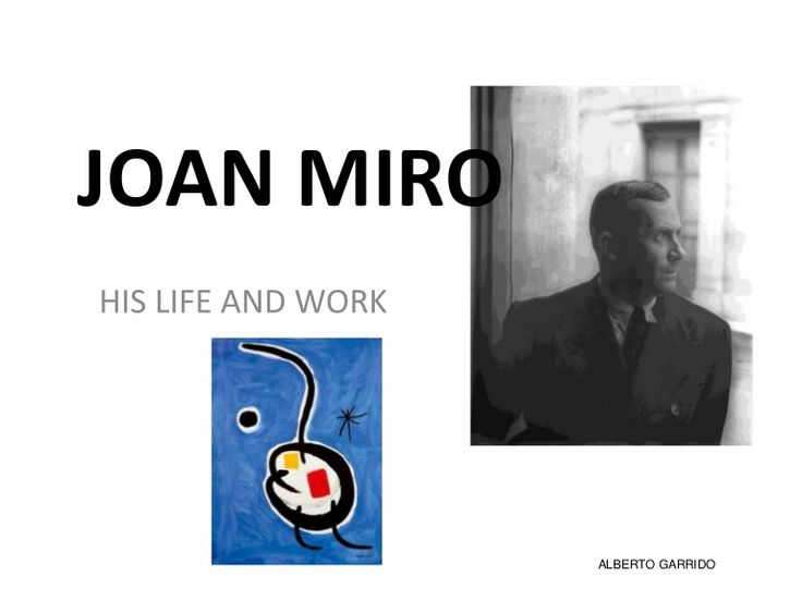 Miro´s life and work for yoing children