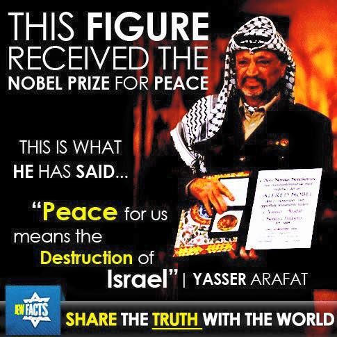 Yasser Arifat said that peace for us means the destruction of Israel.