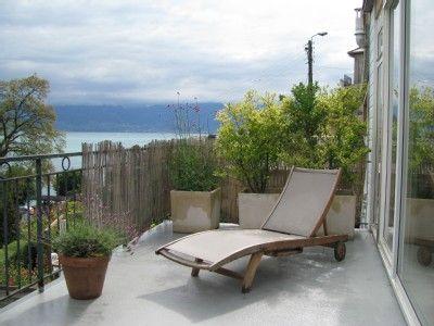 Location vacances maison Meillerie: terrasse RDC