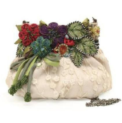 Beautiful flower arrangement on this bag.