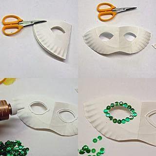 Kağıt Tabaktan Maske Yapımı Resimli Anlatımı
