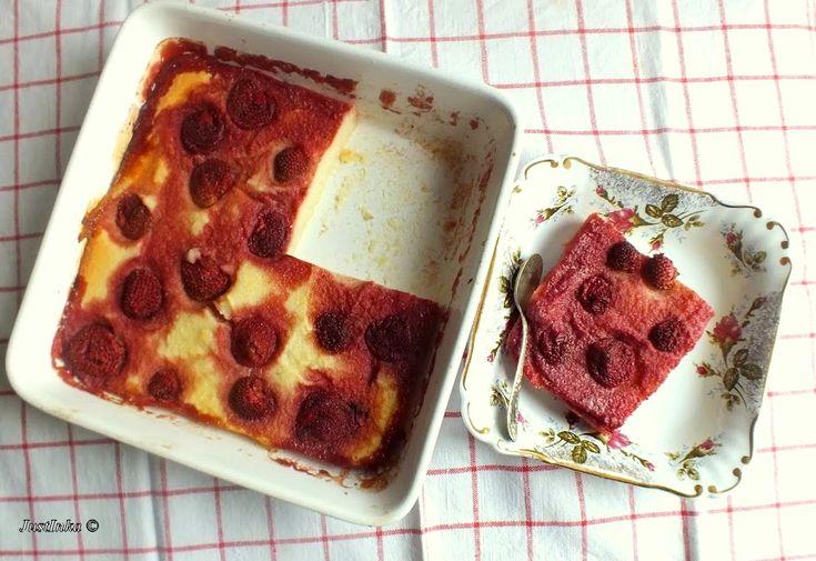 Pieczona manna z twarogiem i truskawkami « JustInka