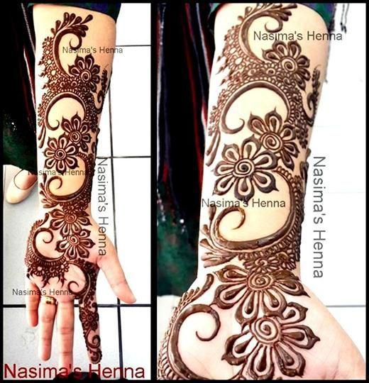 Creative Arabic Mehndi Designs By Nasima