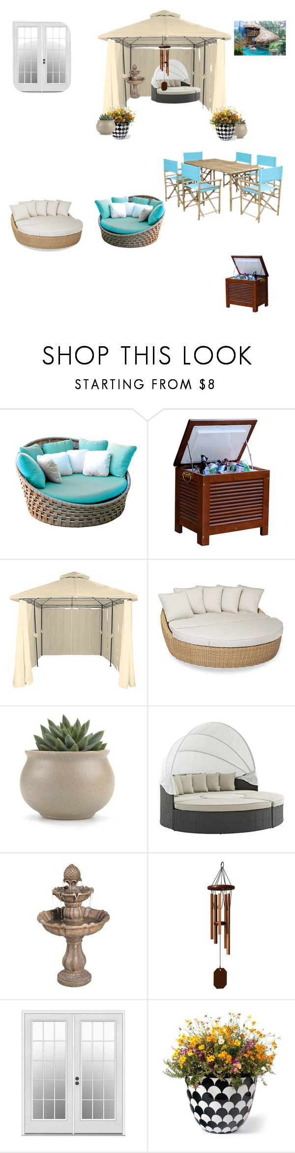 """""""Outdoor"""" by heythatsagirl43 ❤ liked on Polyvore featuring interior, interiors, interior design, home, home decor, interior decorating, Skyline, Sunset West, Sunbrella and DutchCrafters"""