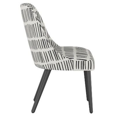 Geller Modern Dining Chair White With Black Legs Project 62