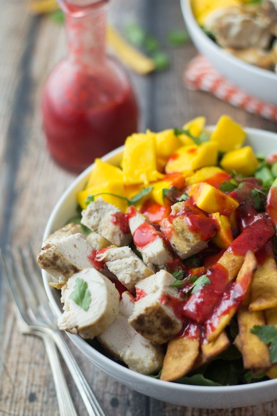 Mexican Chicken Salad with (to-die-for) Raspberry Chipotle Dressing