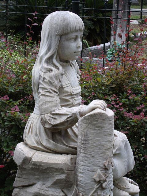 Little Gracie - famous statue at Bonaventure Cemetery