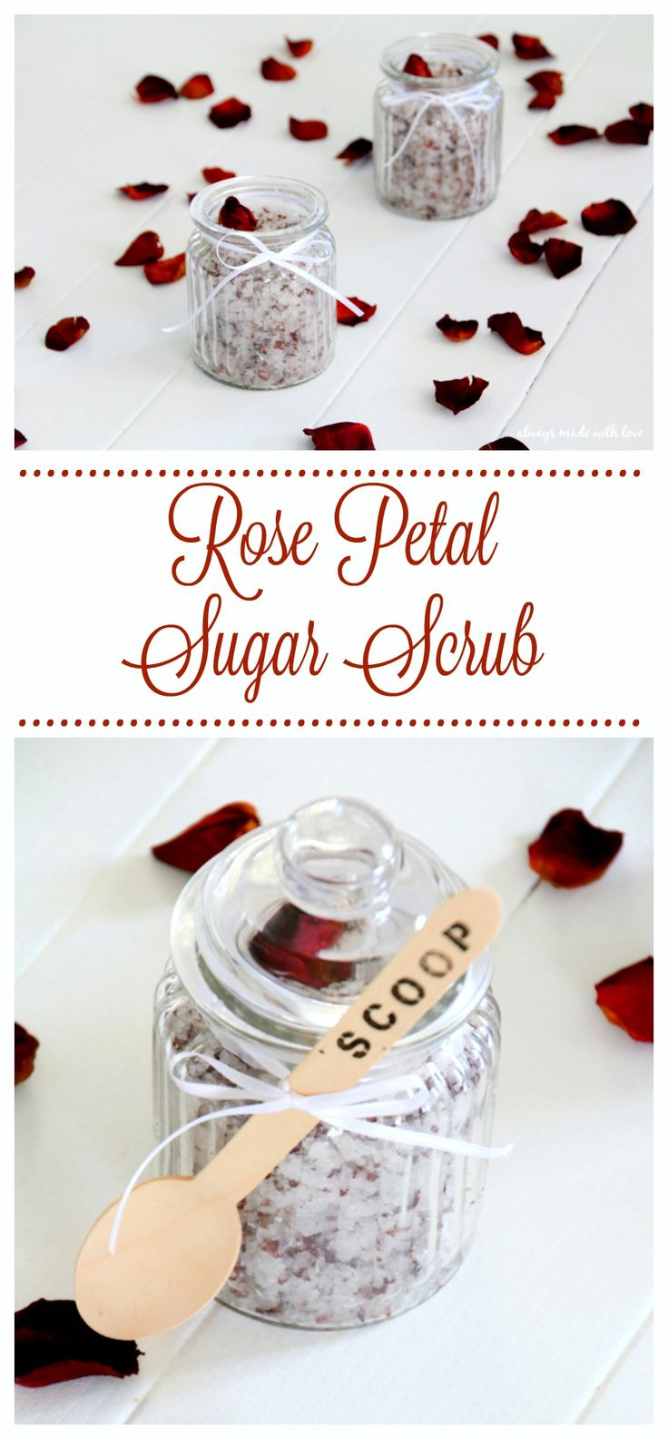 A lovely yet simple homemade sugar scrub that will leave you feeling relaxed and your skin silky smooth