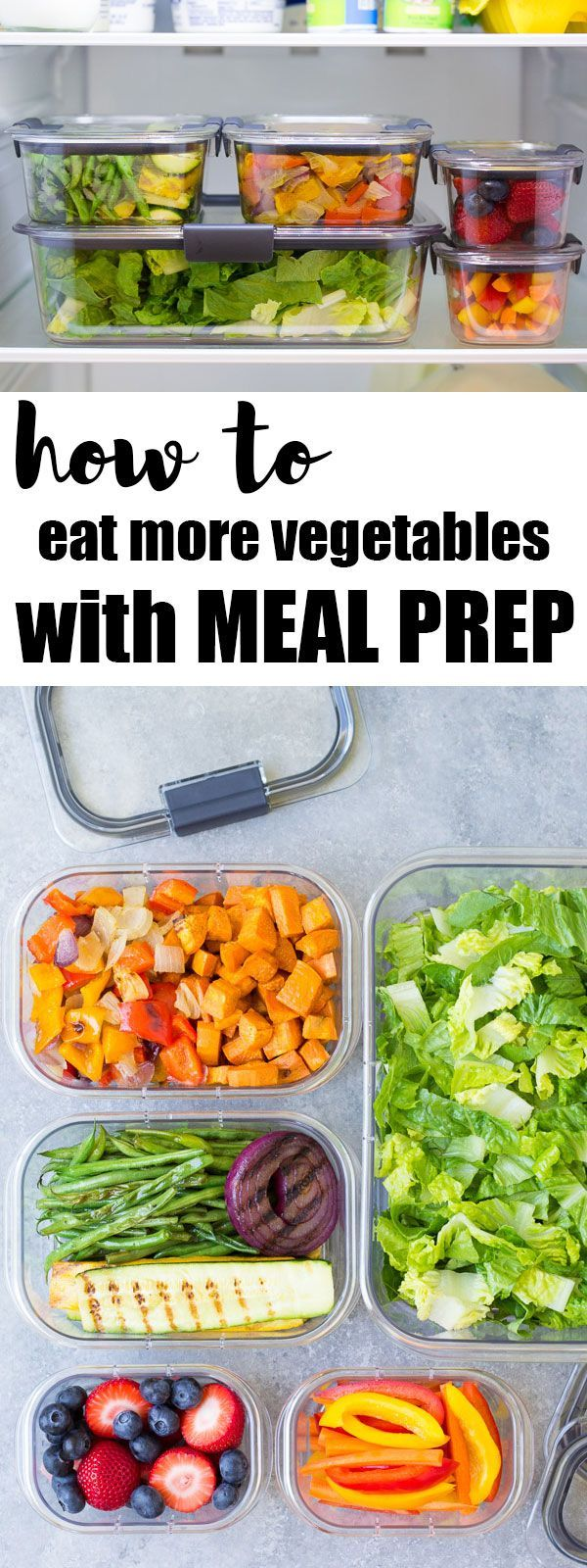 How to eat more vegetables and fruits with meal prep. AD. You'll eat much more fresh produce when it's ready and visible in your refrigerator! Save time with weekly food prep.