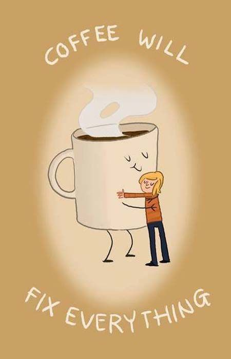 Coffee will fix everything ♥ ♥ ♥ #Coffee #Quote with Coffee Lovers Magazine