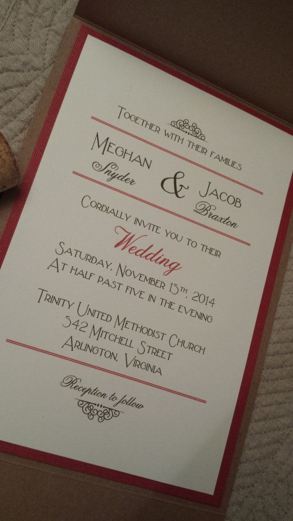 Vintage Kraft Wedding Invitations by Kim Boyce