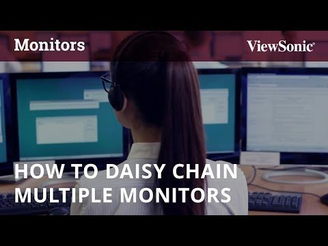 How to Daisy Chain Multiple Monitors - YouTube