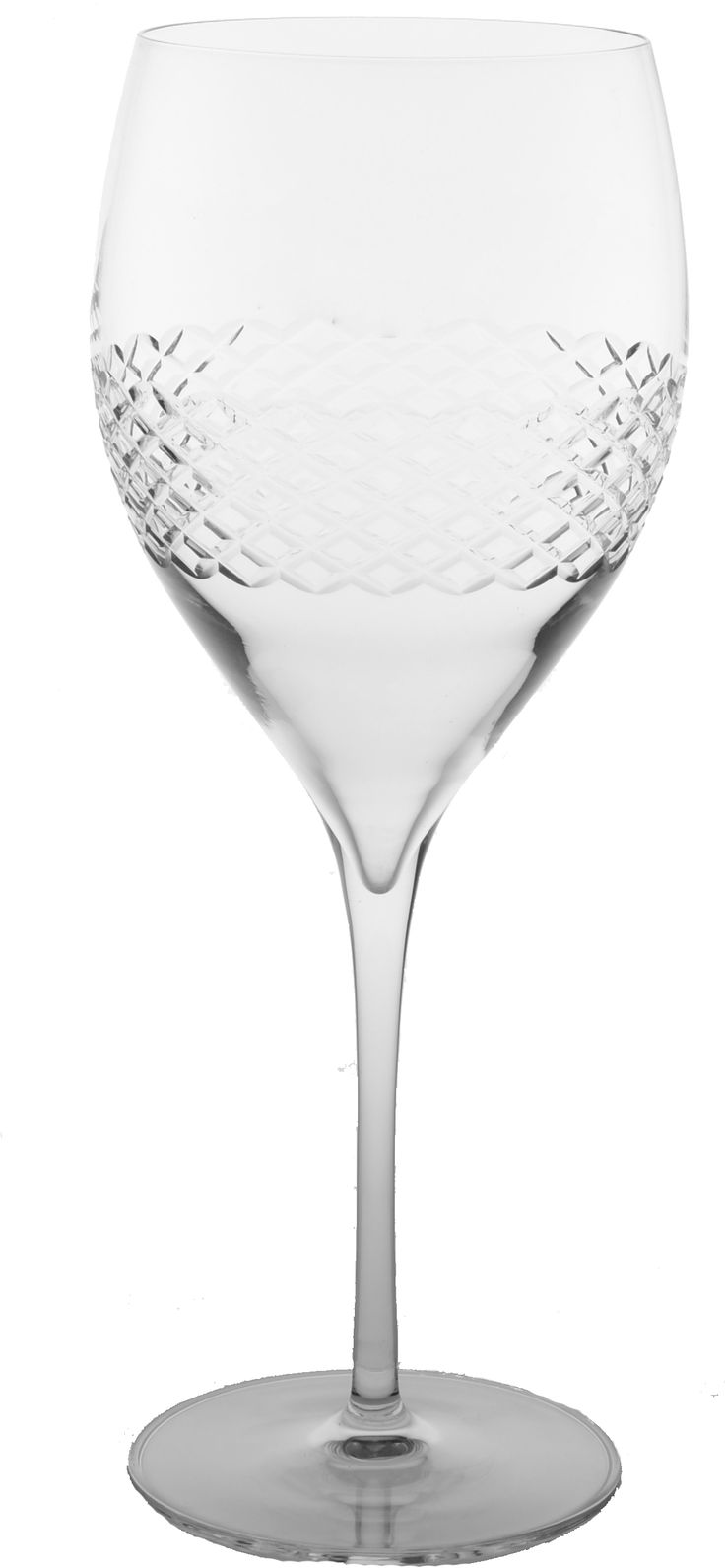 Diamond XL Red Wine Glasses Set of 4 23.75oz - $69.95 #glassware #wine #nautical #beach #tropical #bar #diamond #decor #kitchen