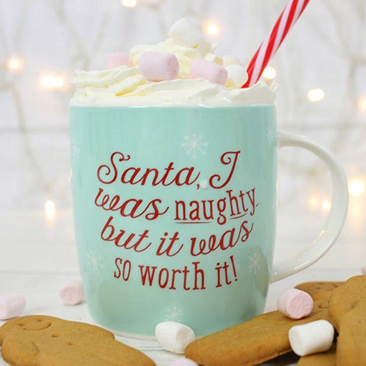 Santa I was naughty' bone china novelty mug – PASX UK