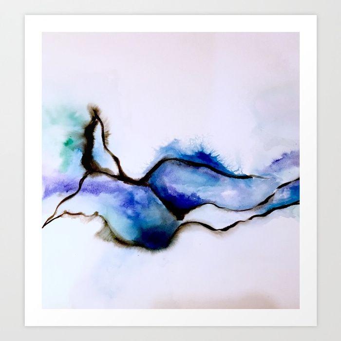 Water Bird Art Print by sophie_lemieux | Society6