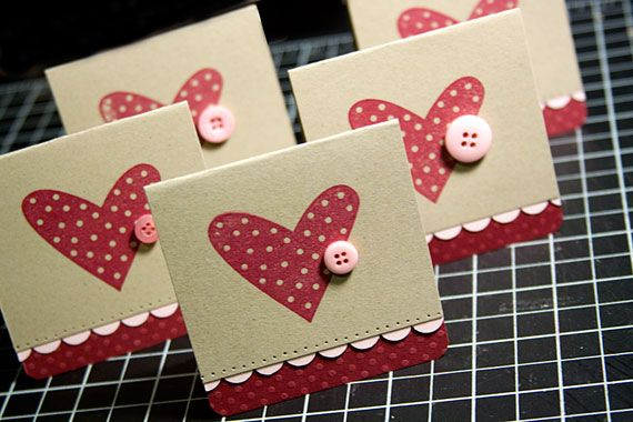 Very sweet heart button cards!