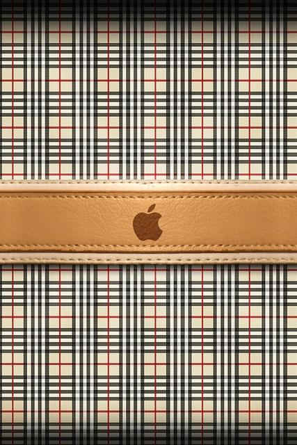 Apple Burberry Apple Wallpaper Iphone Apple Logo Wallpaper Iphone Ipod Wallpaper