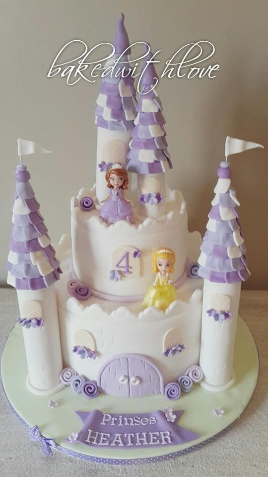 Sophia the First castle cake.
