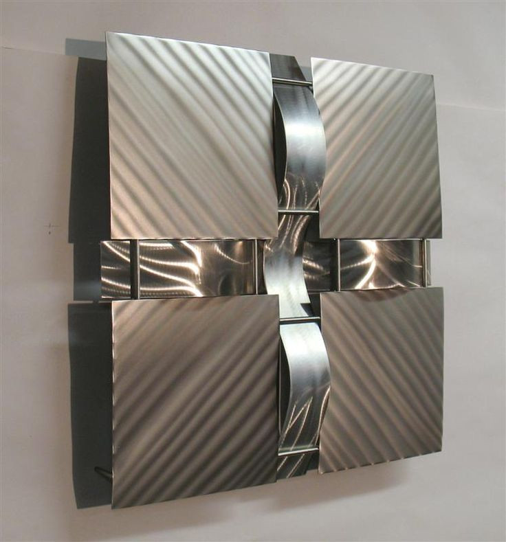Contemporary Metal Wall Art Sculpture Stainless 16S