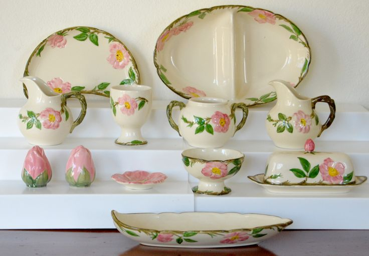 desert rose china pattern | COLLECTION #84: Franciscan Ware Desert Rose Pottery