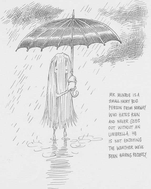 A bog person, Mr Munroe   Chris Riddell