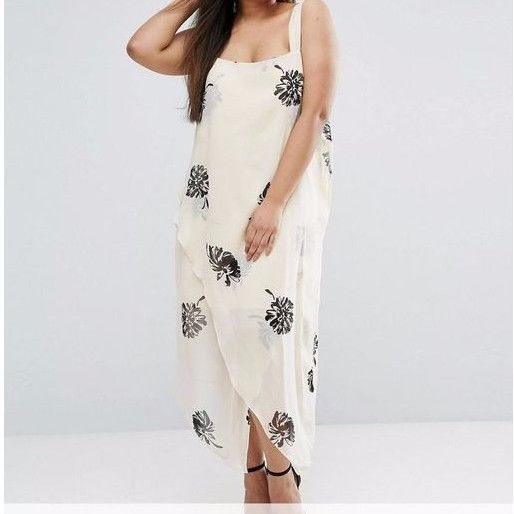 Branded CURVE Plus Size Mono Floral Strap Cami Midi Dress UK 24/EU 52/US 20  | eBay