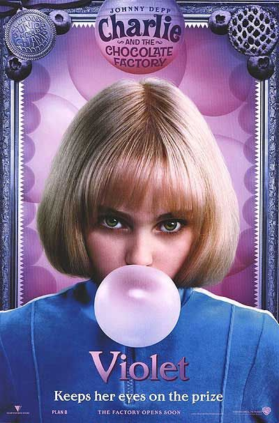 """Charlie and the Chocolate Factory (2005) """"Violet keeps her eyes on the prize"""""""