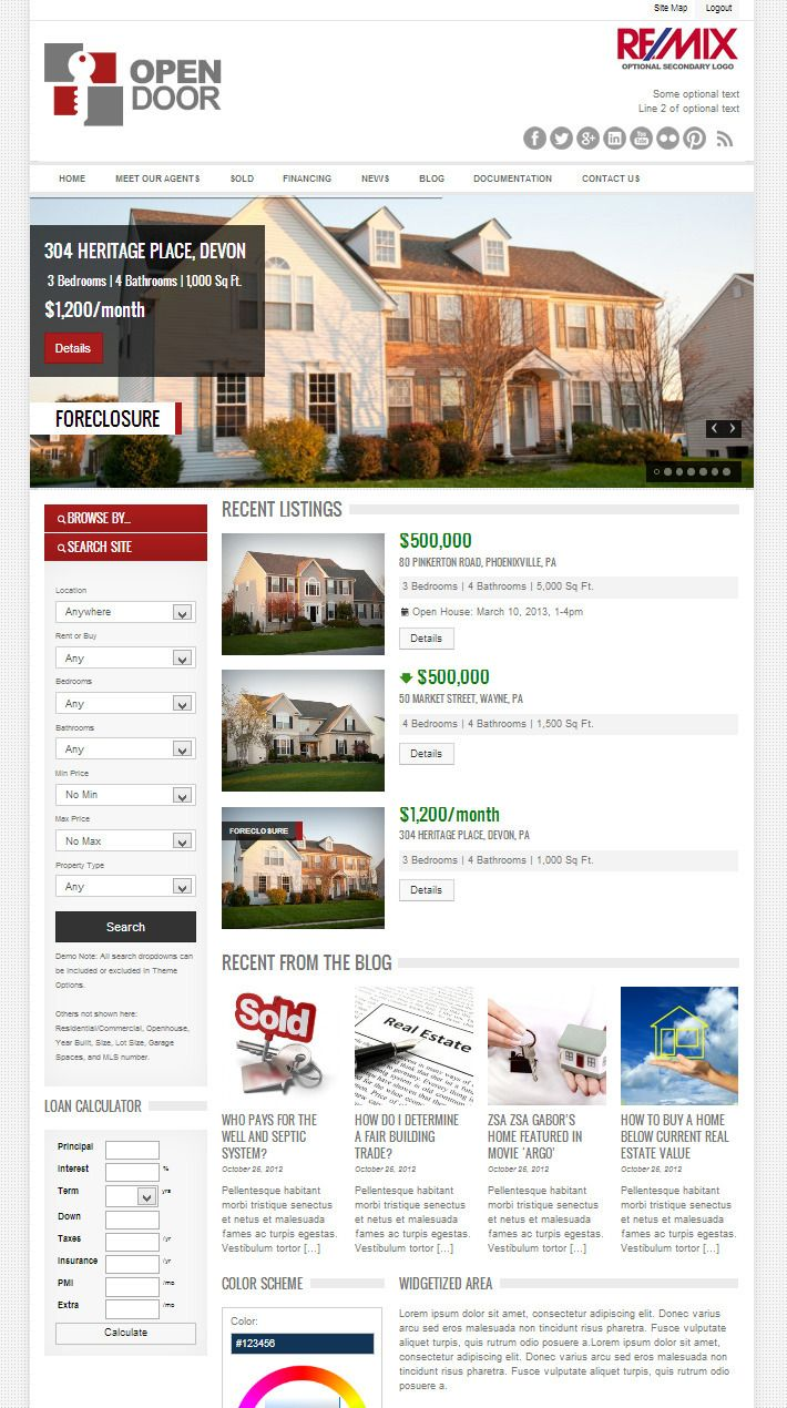 OpenDoor is the long awaited followup on the hugely successful OpenHouse/Automotiv theme bundle. OpenDoor combines both real estate and car sales into
