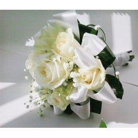svatební kytice- růže bílá-šampaň