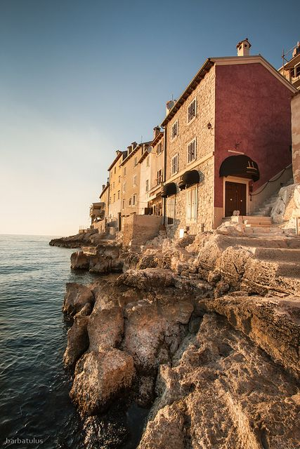 Note: The cliffs of Rovinj, Croatia