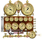 Steampunk Resource Monitor Widget