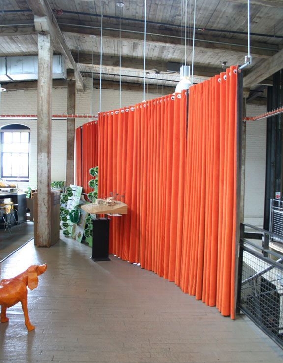 curtain room dividers hanging from the ceiling - Room Dividers Ideas