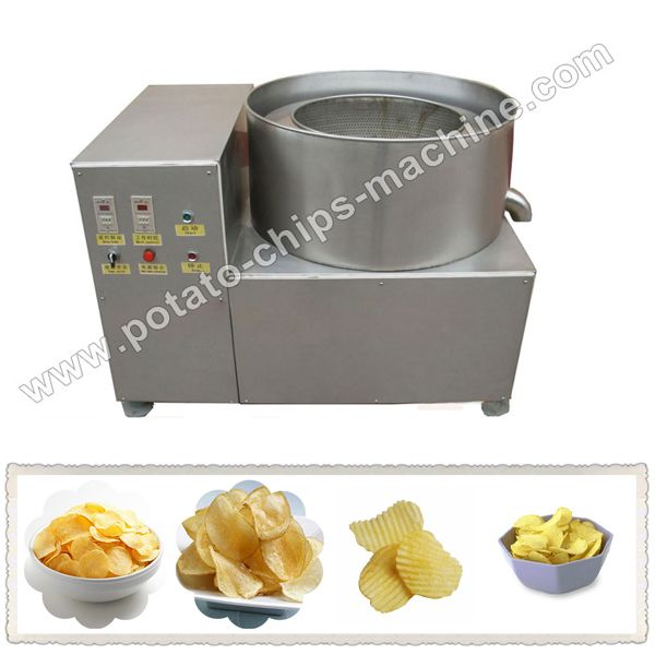 Link: http://potato-chips-machine.com/chips_machine/Potato-Chips-Deoiling-Machine.html Email:  info@allancemachinery.com The potato chips de-oiling machine is mainly used to dry the oil off the surface of potato chips so that the potato chips looks and tastes better, become easier to be packed and saves cooking oil, such as potato chips, banana chips and puffed food, and adopts centrifugal principle to make potatoes bright color, crisp flavor.