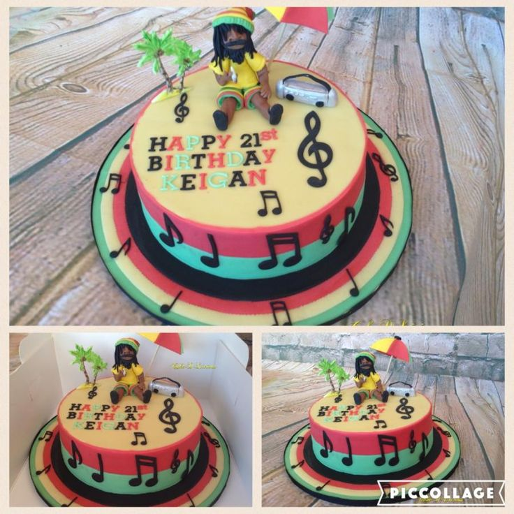 Bob Marley 'just chilling' - Cake by Cake-D-Licious