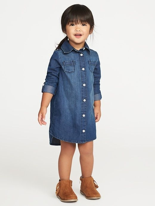 58c94bf3ca Denim Shirt Dress for Toddler Girls