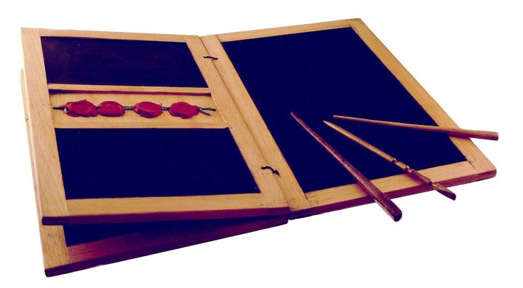 Reconstruction of a writing tablet: the stylus was used to inscribe letters into the wax surface for drafts, casual letterwriting, and schoolwork, while texts meant to be permanent were copied onto papyrus