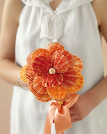 Sometimes you skip the flowers for a Seashell Bouquet