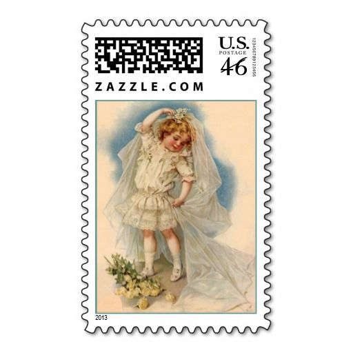 Stamp Vintage Style Little Bride Dress-up Dreaming
