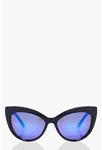 Freya Engraved Contrast Cat Eye Sunglasses