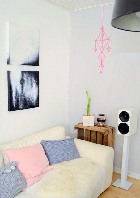 Washi tape chandelier